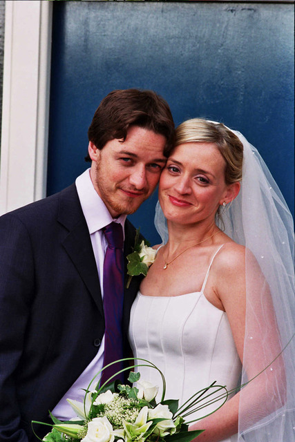 McAvoy and Anne-Marie's wedding photo.
